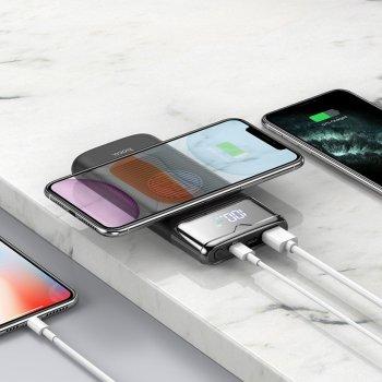 Powerbank Hoco 10000mAh з бездротовою зарядкою для iPhone/Android 18W/3A, QC/PD black
