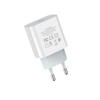 Зарядное устройство Borofone 20W USB-C Quick Charge для iPhone/iPad/Samsung/Xiaomi/Huawei