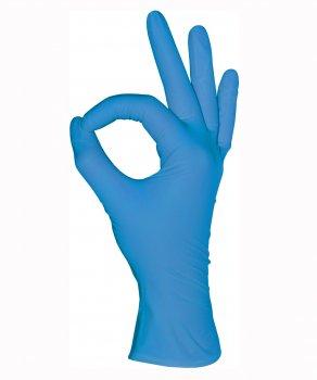 Перчатки нитриловые, голубые, M (100шт), Mediok Nitrile Optima
