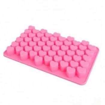 Форма для льда силиконовая Stenson 19,8х1,3х11,4см розовая MMS-MH-3018 (AN000262)