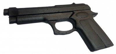 Пистолет резиновый, муляж, тренировочный 22см