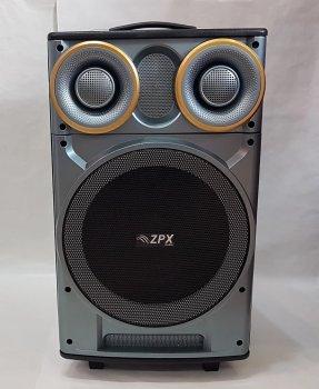 Акустическая система ZPX ZX-7777 колонка-чемодан со светомузыкой и беспроводным микрофоном 120W (par_ZX 7777)