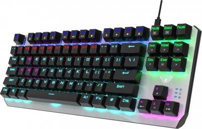 Клавиатура проводная Aula Aegis Mechanical Keyboard EN/RU Red switch (6948391240299)