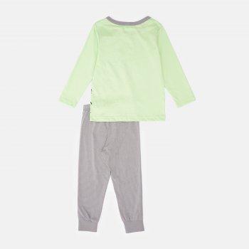 Пижама (футболка с длинными рукавами + штаны) Smil Explore 104825 Зеленое яблоко