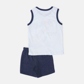 Пижама (майка + шорты) Smil Explore 104827 Белая