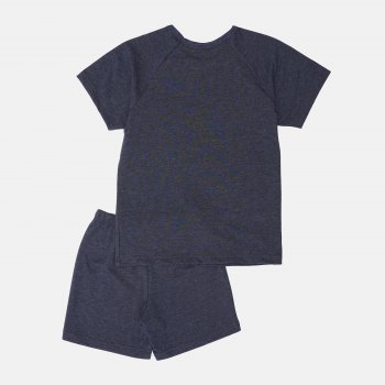 Пижама (футболка + шорты) Smil Explore 104829-1/104830-1 Синяя