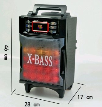 Колонка комбик Bluetooth mp3 радиомикрофон пульт цветомузыка Golon RX-2900 BT (gr_006571)
