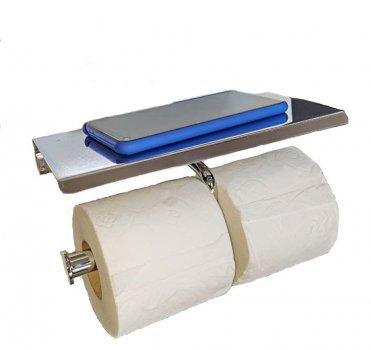 Тримач туалетного паперу з латуні Elit (з поличкою) ВК 10011