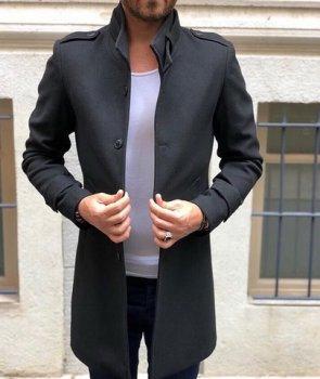 Пальто Chernyy Kot Z241 Черный