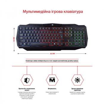 Комплект (клавіатура, миша) Piko GX50 Black USB (1283126506208) + килимок