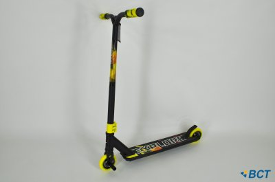 Самокат трюковий Explore Sterling Super New чорно-жовтий + пеги