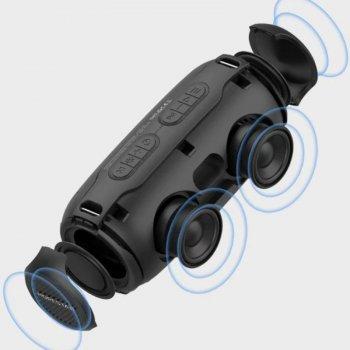 Портативная беспроводная Bluetooth колонка Hopestar H48 10Вт Black с влагозащитой IPX6 радио и функцией зарядки устройств (H48B)