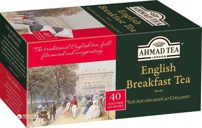 Упаковка чая пакетированного Ahmad Tea Английский к завтраку 10 шт по 40 пакетиков (0054881209182)