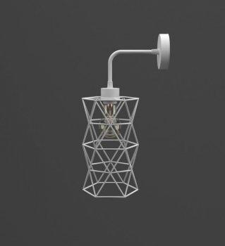 Бра Tower ... З white ТМ MebelLoft 1xE27 в стилі Лофт білий мат
