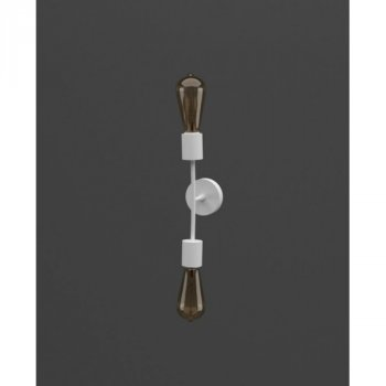 Бра Tuberia D ... З white ТМ MebelLoft 2xE27 в стилі Лофт білий мат