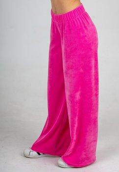 Штани широкі велюрові Caroline рожевий