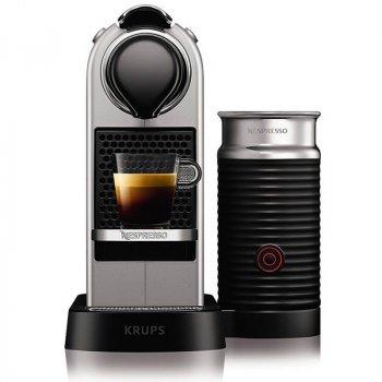 Кофемашина Nespresso C123 CitiZ&Milk Srebrny