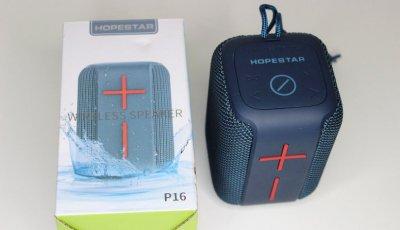 Портативна акустична Bluetooth колонка Hopestar P16 Original вологостійка. Сіра