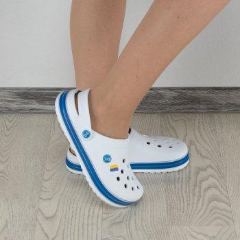 Сабо Dago Style 330 Белые с синим