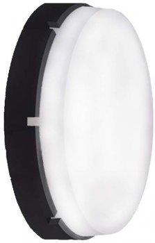 Світлодіодний світильник ERKA 1065LED-Black-В, настінний, 12 W, 4200К, круглий, білий, IP 65