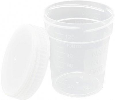 Контейнер МедПласт для сбора мочи стерильный 120 мл (КЗСС-120мл / 140)