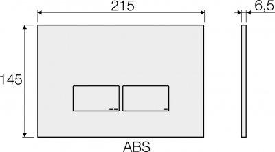 Панель смыва VALSIR Tropea S P3 VS0869235 хром