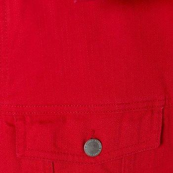 Джинсовая куртка H&M 06-0763544-001 Красная