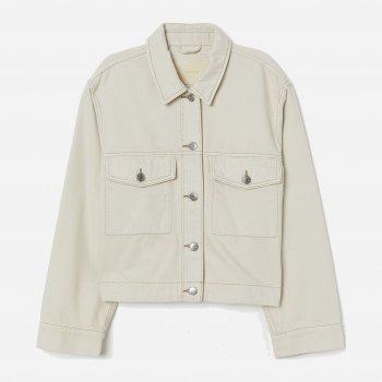 Джинсовая куртка H&M 0779603-0 Светло-бежевая