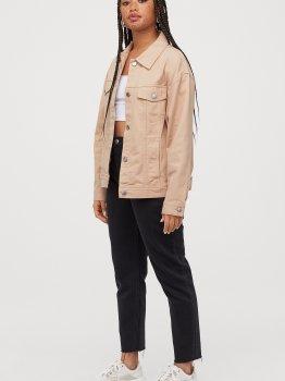 Джинсовая куртка H&M 06-0721273-010 Бежевая