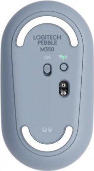 Миша Logitech Pebble M350 Blue Grey (L910-005719) (6635817)