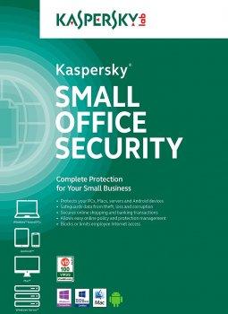 Антивірус Kaspersky Small Office Security 7 ліцензія на 1 рік для захисту 50 робочих станцій, 5 файлових серверів та 50 мобільних пристроїв (KL4541OCQFS)