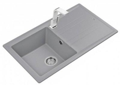 Кухонная мойка TEKA Stone 50 B-TG 1B 1D серый металлик 115330014