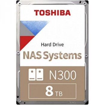 HDD SATA 8.0TB Toshiba N300 NAS 7200rpm 256MB (HDWG180UZSVA)