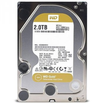 "Жесткий диск WD 3.5"" SATA 3.0 2TB 7200 128MB Gold (WD2005FBYZ)"