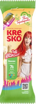 Упаковка хрустящих трубочек АВК Kresko Банан 40 г х 32 шт (4823105804139)