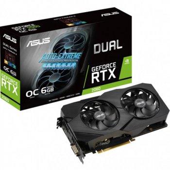 Відеокарта GF RTX 2060 6GB GDDR6 Dual Evo OC Asus (DUAL-RTX2060-O6G-EVO)