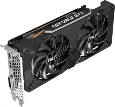 Palit PCI-Ex GeForce GTX 1660 Dual 6GB GDDR5 (192bit) (1530/8000) (DVI, HDMI, DisplayPort) (NE51660018J9-1161C)