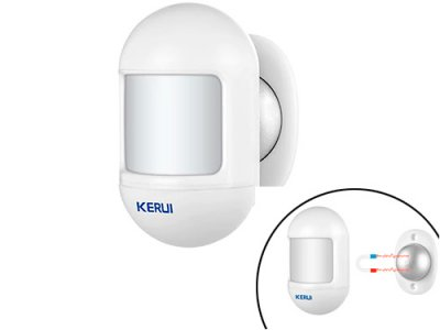 Датчик руху міні KERUI P831 ІК PIR 433МГц для GSM сигналізації (116200)