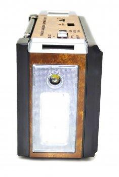 Радиоприёмник колонка с радио FM USB и фонариком Golon RX-381 Brown на аккумуляторе