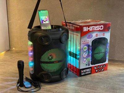 """Колонка портативная с Проводным микрофоном KIMISO QS-6806 (8""""BASS) Bluetooth / Колонка ручная для музыки"""