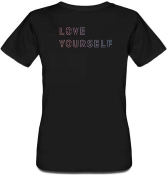 """Женская футболка Fat Cat BTS Bangtan Boys """"Love Yourself"""" (чёрная) 30473"""