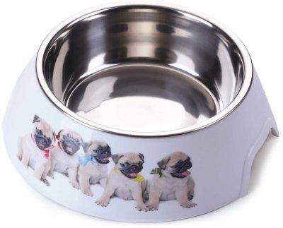 Миска пластик/метал для собак P 1117-ABS-A6 з принтом L 0.7 л (2000981121419)