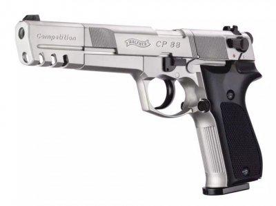 "Пневматичний пістолет Umarex WALTHER CP88 6"" Compatition nickel"