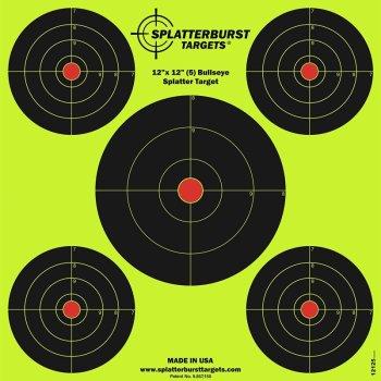 Мішень для стрільби флюрисцентная Splatterburst 30х30 см (12x12 дюймів) Бичачі очі