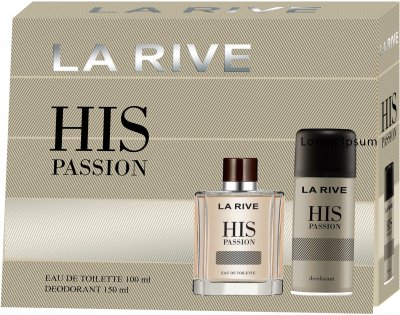 Мужской подарочный набор La Rive His Passion Туалетная вода 100 мл + Дезодорант 150 мл (5901832067771)