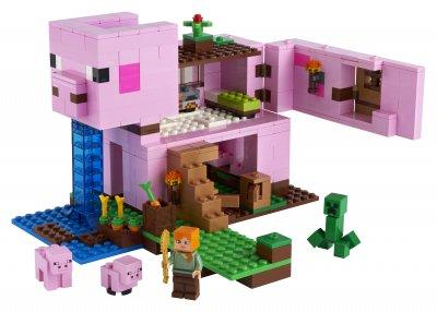 Конструктор LEGO Minecraft Дом-свинья 490 деталей (21170)
