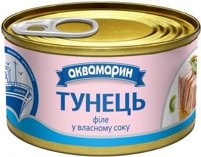 Филе тунца Аквамарин в собственном соку 85 г (8852021008426)