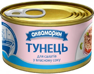 Тунец для салатов Аквамарин в собственном соку 85 г (8852021008402)