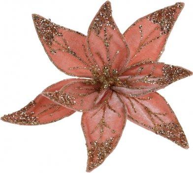 Елочная игрушка Christmas Decoration Пуансеттия 30 см Коралловая (YZB001530_coral)