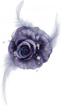 Елочная игрушка Home & Styling Collection Роза 8х3 см Фиолетовая (DH8045310_violet)